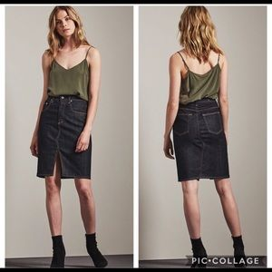 AG Emery Denim High Waist Pencil Skirt Size 4